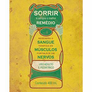 Placa-Decorativa-Litoarte-DHPM-278-24x19cm-Sorrir-e-Sempre-o-Melhor-Remedio