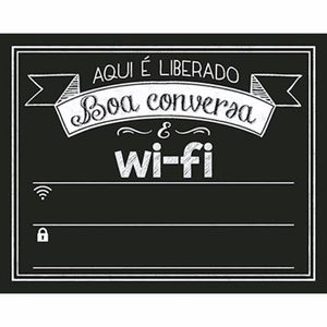 Placa-Decorativa-Lousa-Litoarte-DHPM-282-24x19cm-Wi-Fi-Boa-Conversa