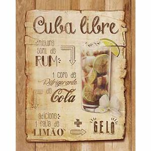 Placa-Decorativa-Litoarte-DHPM-309-24x19cm-Receita-Cuba-Libre
