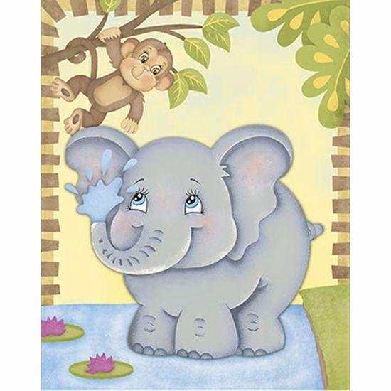 Placa-Decorativa-3D-Litoarte-DHPM5-202-24x19cm-Elefante-e-Macaco