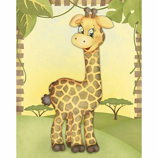 Placa-Decorativa-3D-Litoarte-DHPM5-203-24x19cm-Girafa