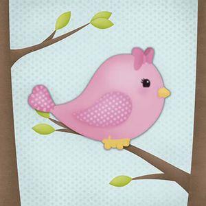 Placa-Decorativa-3D-Litoarte-DHPM5-209-19x19cm-Passarinho-Rosa