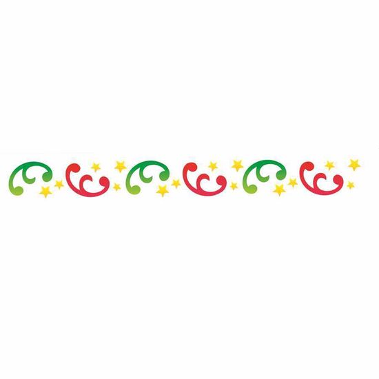 Stencil-OPA-1101-4x30cm-para-Pintura-Natal-Arabescos-Estrelas