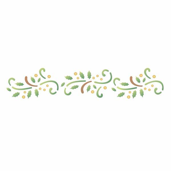 Stencil-OPA-1104-6x30cm-para-Pintura-Natal-Folhas-Arabescos