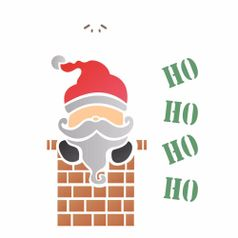 Stencil-OPA-1117-15x20cm-para-Pintura-Natal-Papai-Noel-Chamine