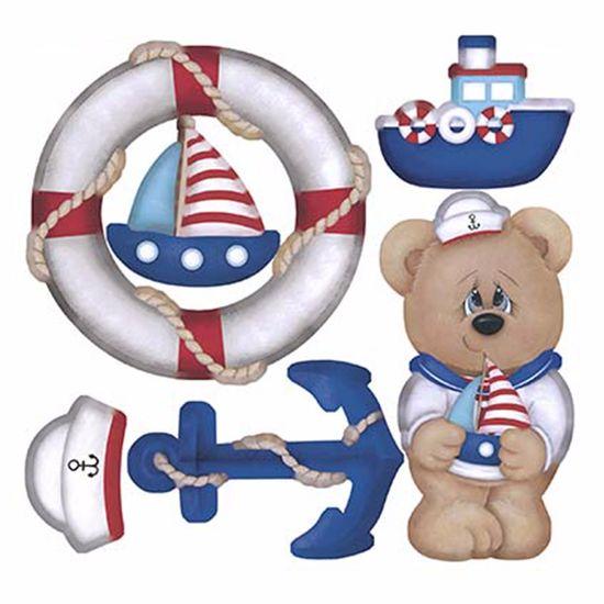 Aplique-em-Chipboard-Litoarte-CRL-006-Recortado-a-Laser-Urso-Marinheiro