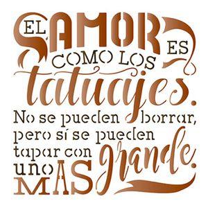Stencil-Litoarte-STA-085-14X14cm-Pintura-Simples-El-Amor-es-Como-Los-Tatuajes