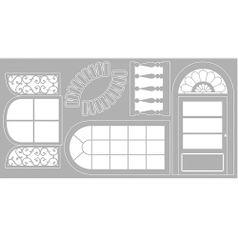 Scrap-Embelezadores-Cardboard-Litoarte-SCE-004-Aplique-Portas-e-Janelas