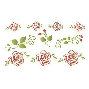 Stencil-Litoarte-STM-522-211X172cm-Pintura-Simples-Rosas-e-Arabesco-By-Rose-Ferreira