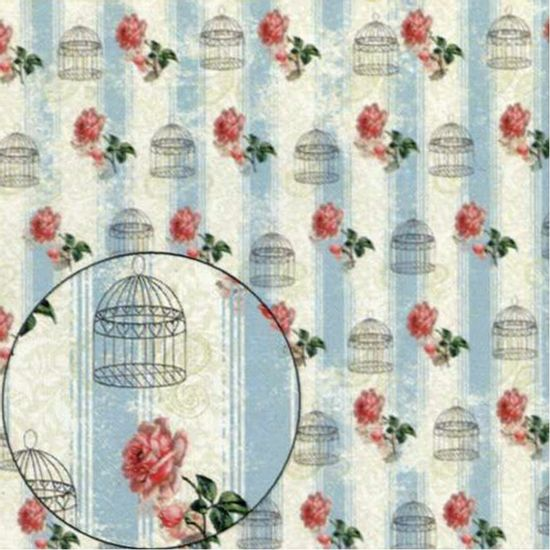 Papel-Scrapbook-Litocart-LSC-307-Simples-305x305cm-Rosas-e-Gaiolas