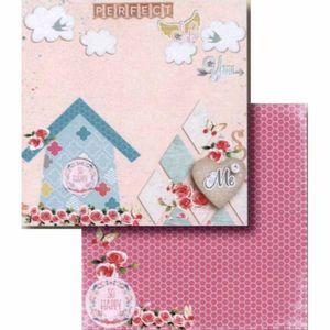 Papel-Scrapbook-Litocart-LSCD-402-Dupla-Face-305x305cm-Casa-e-Poa-Rosa