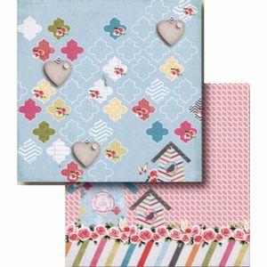 Papel-Scrapbook-Litocart-LSCD-403-Dupla-Face-305x305cm-Casa-e-Rosas