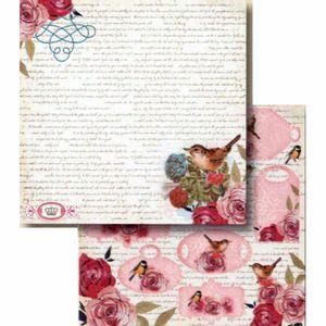 Papel-Scrapbook-Litocart-LSCD-391-Dupla-Face-305x305cm-Tags-Passaros