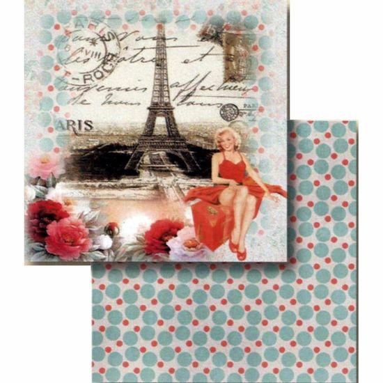 Papel-Scrapbook-Litocart-LSCD-396-Dupla-Face-305x305cm-Paris-Vintage