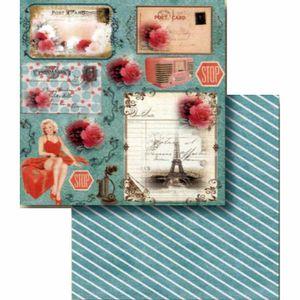 Papel-Scrapbook-Litocart-LSCD-397-Dupla-Face-305x305cm-Mulher-Vintage