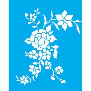 Stencil-Litocart-LSG-106-25x20cm-Pintura-Simples-Flores
