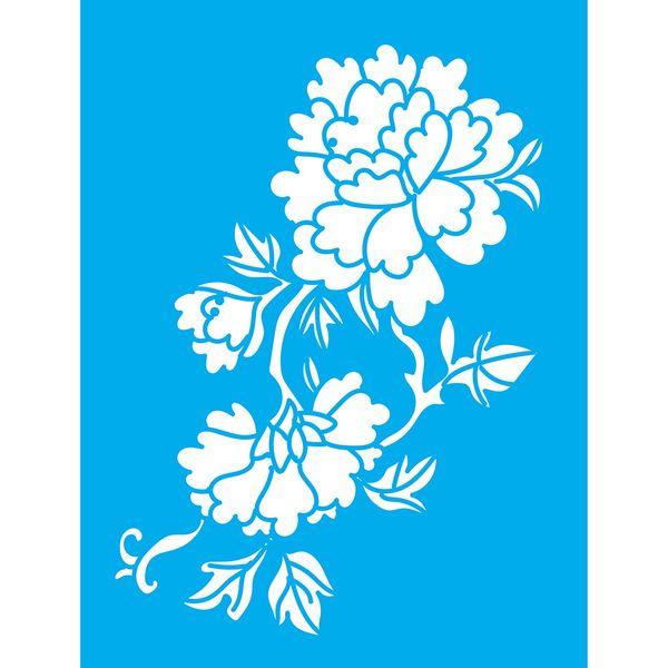 Stencil-Litocart-LSM-070-20x15cm-Pintura-Simples-Flores-e-Folhas