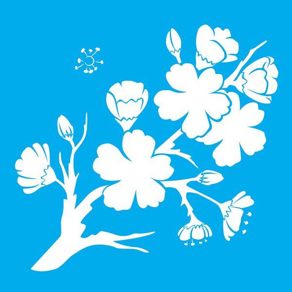 Stencil-Litocart-LSQ-108-20x20cm-Pintura-Simples-Flores