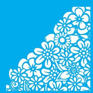 Stencil-Litocart-LSQ-110-20x20cm-Pintura-Simples-Estampa-Flores-Cantoneiras