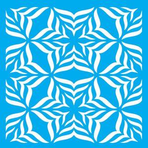 Stencil-Litocart-LSQ-075-20x20cm-Pintura-Simples-Estampa-Floral