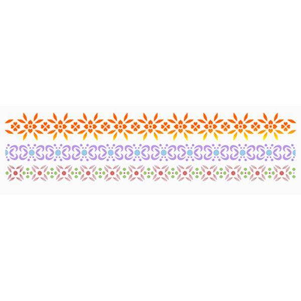 Stencil-Epoca-Litoarte-STE-326-285x84cm-Pintura-Simples-Barrado-Floral