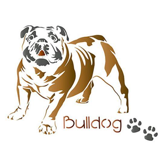 Stencil-Litoarte-STM-505-211X172cm-Pintura-Simples-Cachorro-Bulldog