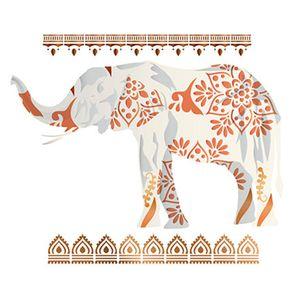 Stencil-Litoarte-ST-201-344x21cm-Pintura-Sobreposicao-Elefante-Floral