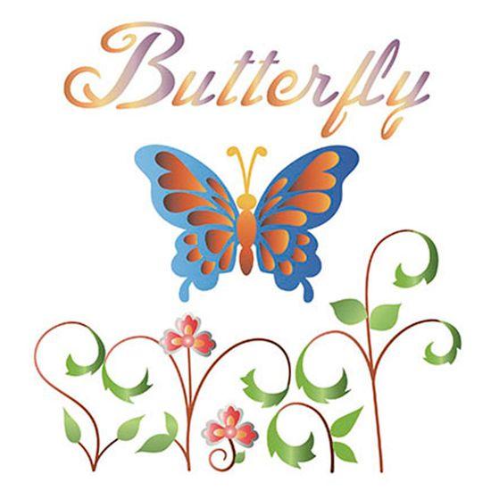 Stencil-Litoarte-STQ-007-16x16cm-Pintura-Duplo-Sobreposicao-Butterfly