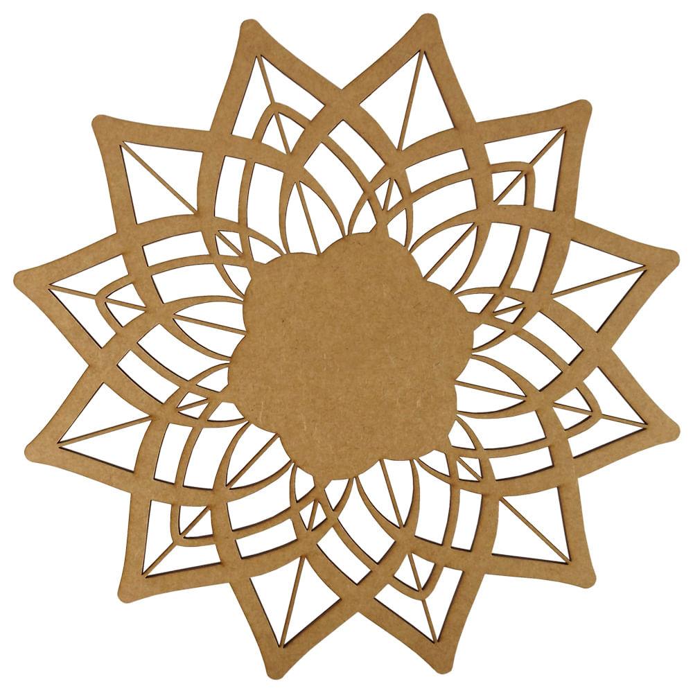Mandala Flor De Lótus Em Mdf 13x13cm Palácio Da Arte