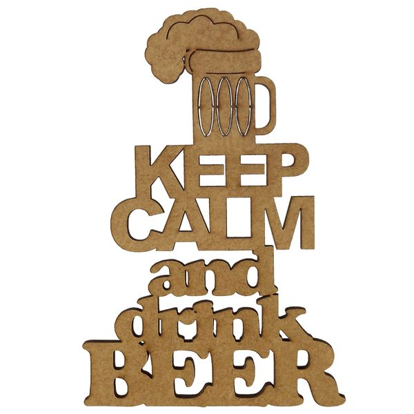 Aplique-em-MDF-15x10cm-Keep-Calm-And-Drink-Beer---Palacio-da-Arte