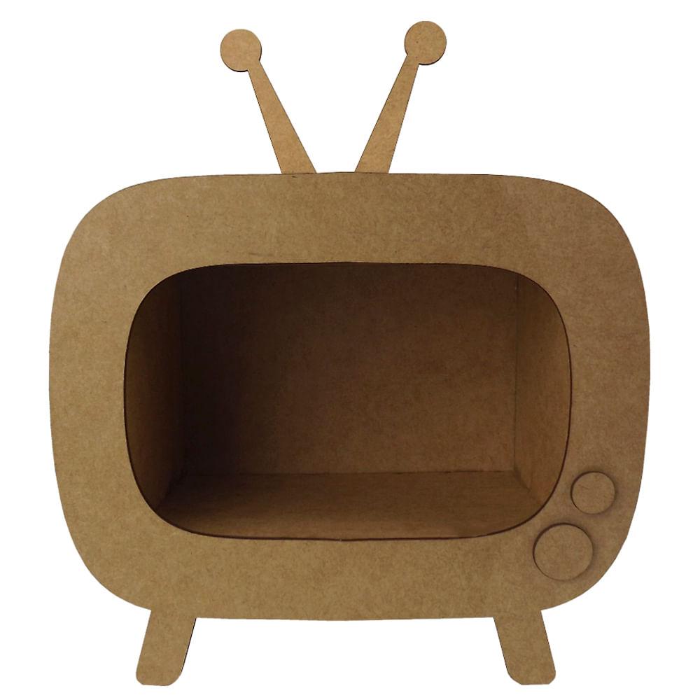 Enfeite De Mesa Em Mdf Tv Retro 27 5x23x11 2cm Palacio Da Arte