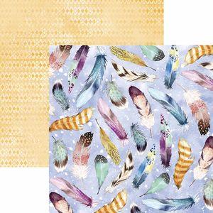 Papel-Scrapbook-Toke-e-Crie-SDF785-Dupla-Face-305x305cm-Filtro-dos-Sonhos-Penas