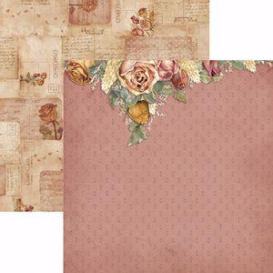 Papel-Scrapbook-Toke-e-Crie-SDF775-Dupla-Face-305x305cm-Toque-de-Romance-Floral