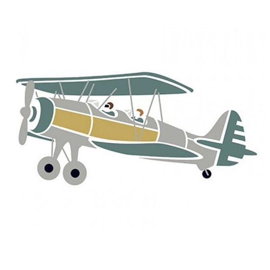 Stencil-Litoarte-STM-373-211X172cm-Pintura-Sobreposicao-Aviao