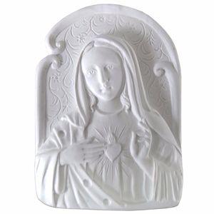 Aplique-Religioso-Oval-Imaculado-Coracao-de-Maria-9x66cm---Resina
