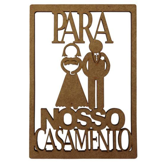 Aplique-em-MDF-15x10cm-Para-Nosso-Casamento---Palacio-da-Arte