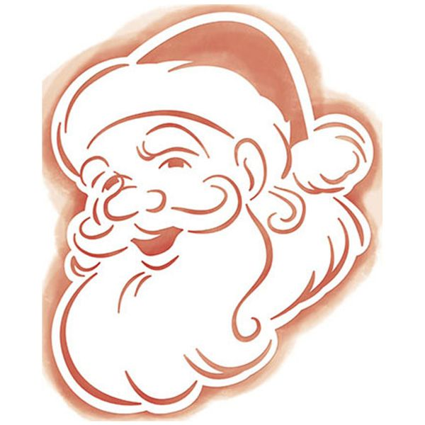 Stencil-Litoarte-Natal-STAN2-007-21x17cm-Pintura-Simples-Papai-Noel