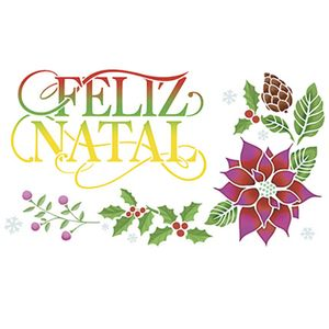 Stencil-Litoarte-Natal-STNGG-026-21x40cm-Pintura-Simples-Arranjo-Natalino-Feliz-Natal-by-Mara-Fernandes