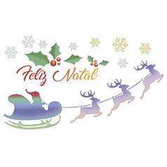 Stencil-Litoarte-Natal-STNGG-024-21x40cm-Pintura-Simples-Treno-e-Renas-Feliz-Natal-by-Mara-Fernandes