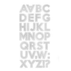 Adesivo-Glitter-Toke-e-Crie-AD1885-Alfabeto-Maiusculo-Prateado-2-Unidades