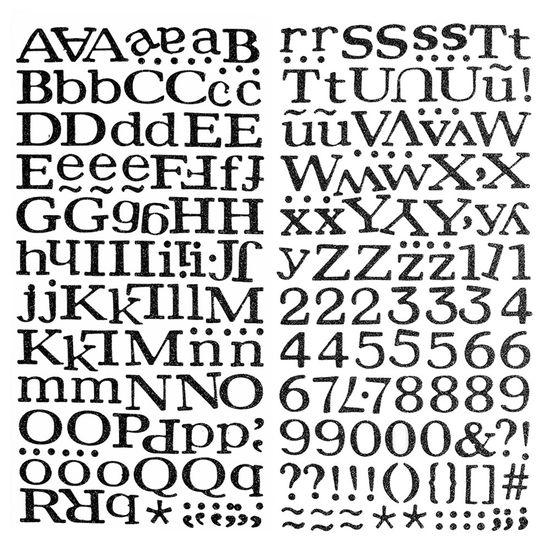 Adesivo-Thickers-Chipboard-American-Crafts-WER055-Alfabeto-Glitter-Preto-2-Unidades