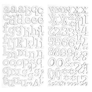 Adesivo-Thickers-Chipboard-American-Crafts-WER052-Alfabeto-Glitter-Branco-2-Unidades