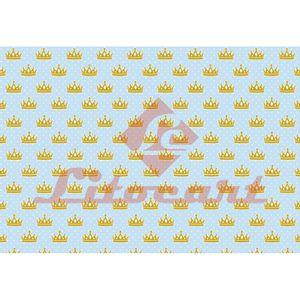 Papel-Decoupage-Litocart-LD-825-34x48cm-Coroa-Fundo-Azul-com-Poa-Branco