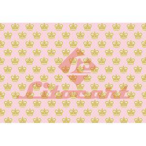 Papel-Decoupage-Litocart-LD-826-34x48cm-Coroa-Fundo-Rosa-com-Poa-Branco