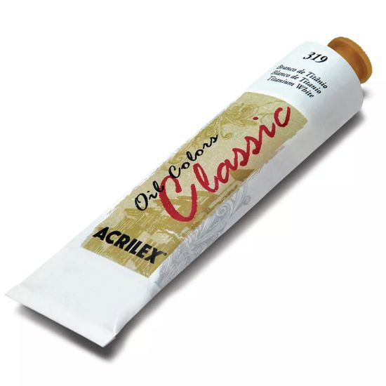 Tinta-Oleo-Oil-Colors-Classic-Acrilex-120ml-Branco-de-Titanio