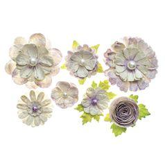 Flores-Artesanais-Sortidas-Toke-e-Crie-FLOR161-Lilas-Colecao-Classica-com-Glitter-e-Perola