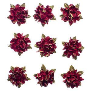 Flores-Artesanais-Hortensia-Toke-e-Crie-FLOR173-Vermelha-Colecao-Delicada