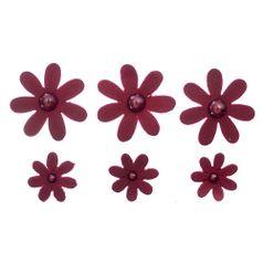 Flores-Artesanais-Margarida-Toke-e-Crie-FLOR170-Vermelha-Colecao-Delicada
