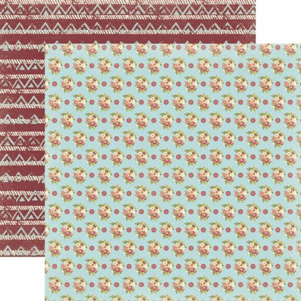 Papel-Scrapbook-Toke-e-Crie-SDF805-Dupla-Face-305x305cm-Floral-Bouquet