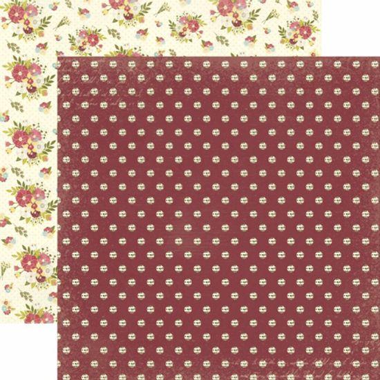 Papel-Scrapbook-Toke-e-Crie-SDF808-Dupla-Face-305x305cm-Floral-Poa
